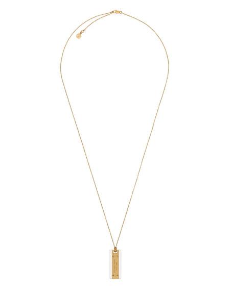 Golden Logo Dog Tag Necklace