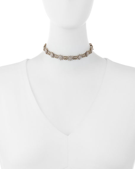 Crystal Star Choker Necklace