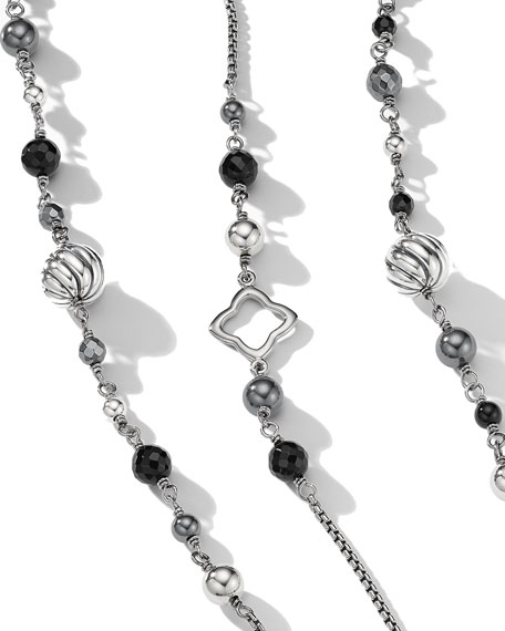Darkened Sterling Silver Necklace, 48""