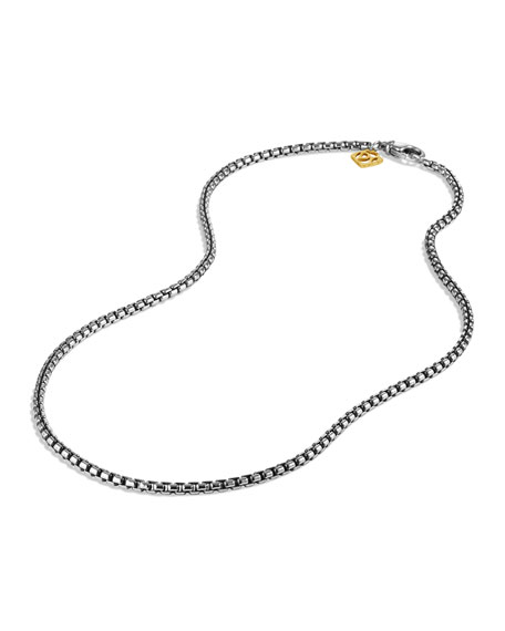 """Sterling Silver Box Chain Necklace, 20"""""""