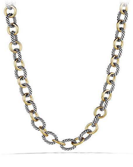 David Yurman Large Sterling Silver & 18K Gold