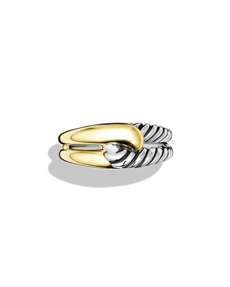 Labyrinth Sterling Silver & 18K Ring