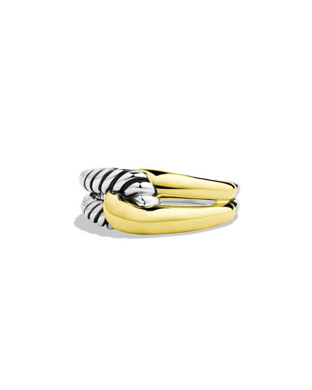 David Yurman Labyrinth Sterling Silver & 18K Ring