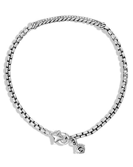 Metro Pave Diamond Bar Bracelet