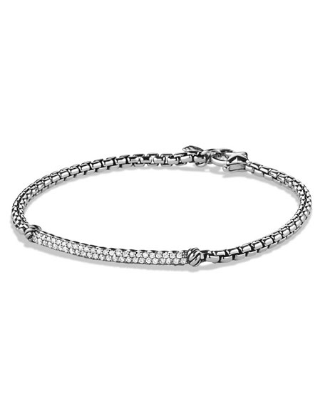 David Yurman Metro Pavé Diamond Bar Bracelet
