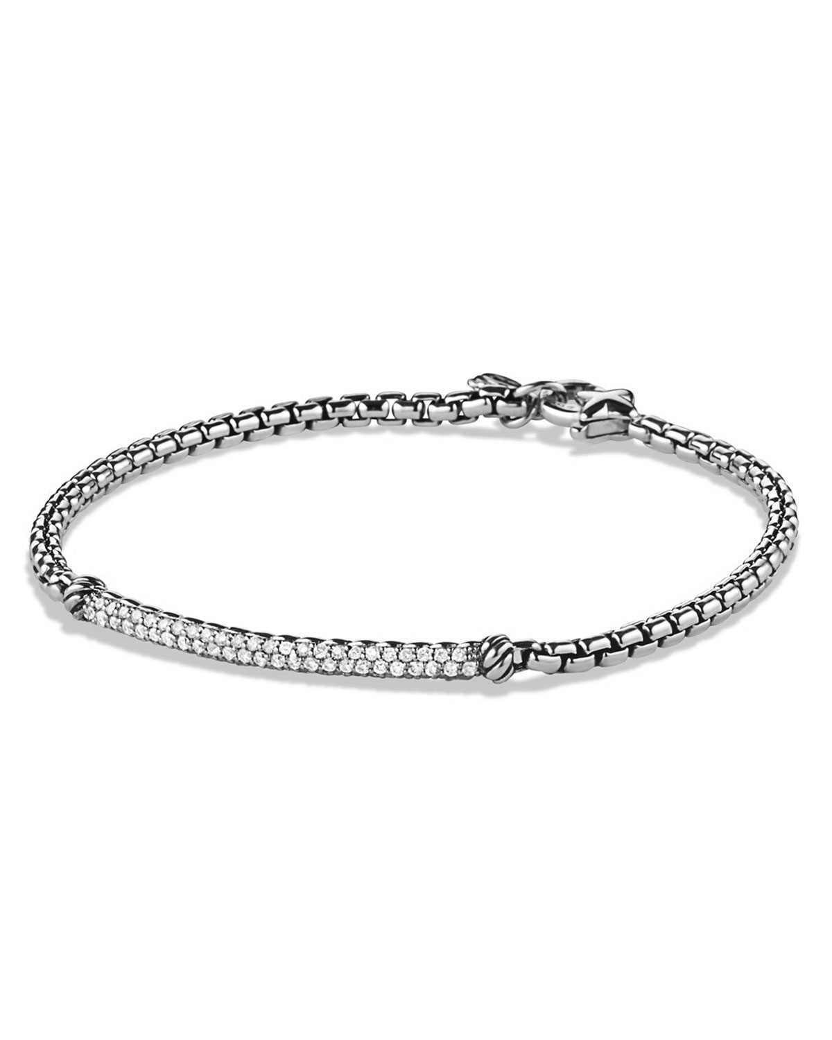 Metro Pave Diamond Bar Bracelet