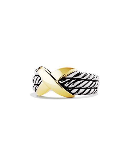 David Yurman 18K X Triple-Row Sterling Silver Ring
