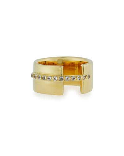Lueur White Topaz Ring, Gold