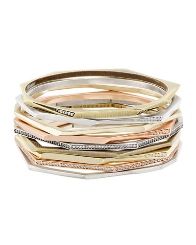 Aubrey Stacking Bracelet, Set of 9