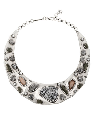 Mira Mixed Jewel Collar Necklace