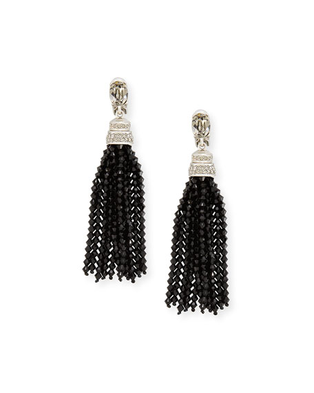 Oscar de la Renta Long Beaded Crystal Tassel