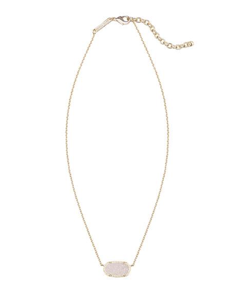 Elisa Iridescent Druzy Necklace, Golden