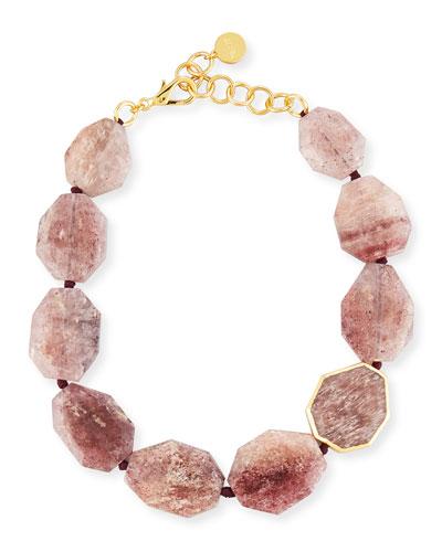Mulberry Quartz Statement Necklace