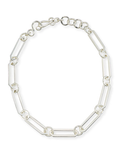 Courtly Chain Link Necklace, Silver, 18