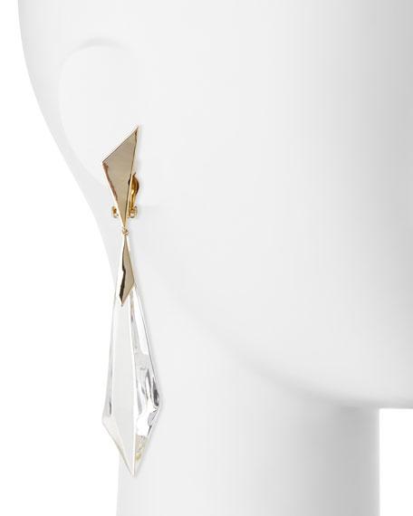 Faceted Dangle Drop Earrings