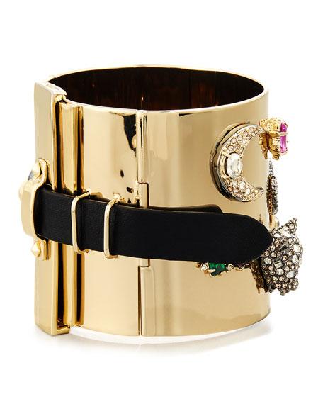 Crystal Figurine Cuff Bracelet