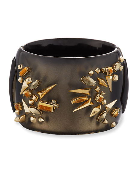Alexis Bittar Studded Hinge Cuff Bracelet