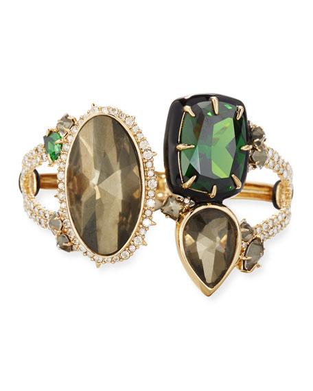 Alexis Bittar Pyrite & Emerald Cubic Zirconia Statement