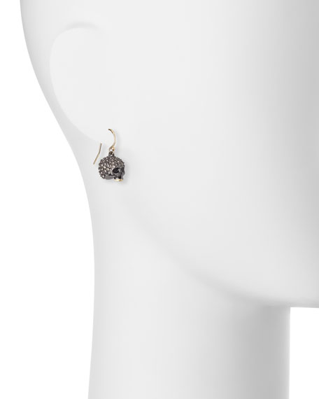 Petite Crystal-Encrusted Skull Earrings