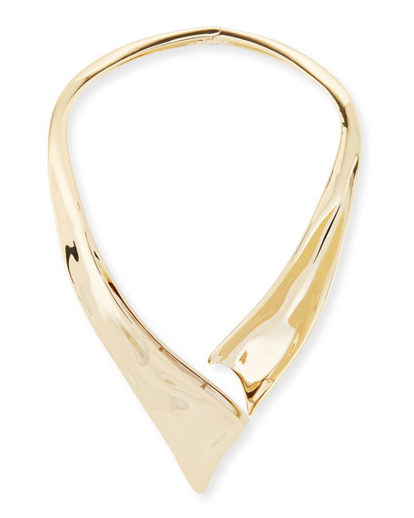 Liquid Golden Collar Necklace