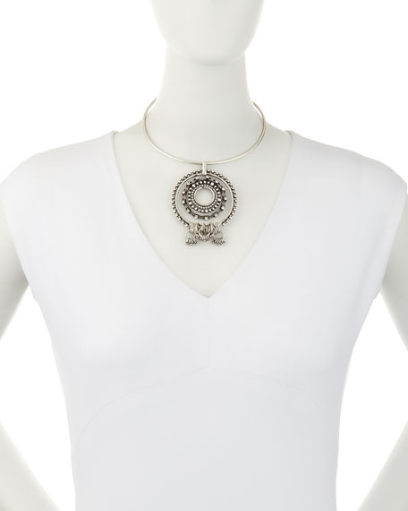 Image 2 of 2: Corona Pendant Collar Necklace
