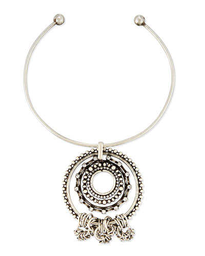 Corona Pendant Collar Necklace