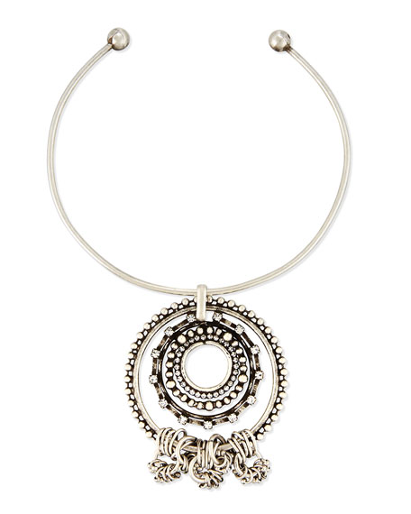 Image 1 of 2: Corona Pendant Collar Necklace