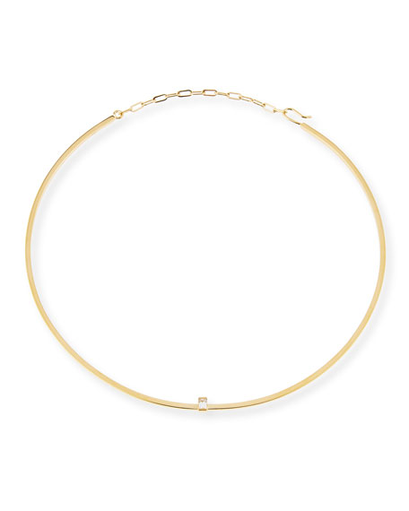 Jennifer Zeuner Kerry Choker Necklace with White Sapphire
