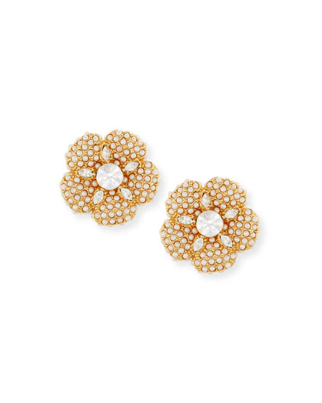 kate spade new york pearly golden crystal flower