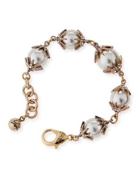 Lulu Frost Electra Pearly Crystal Cap Bracelet