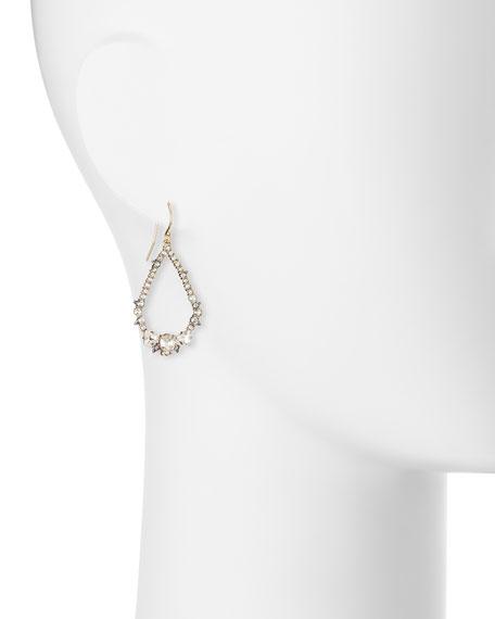 Crystal-Encrusted Spiked Earrings