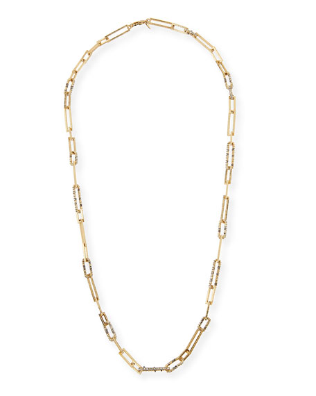 Alexis Bittar Crystal-Encrusted Link Necklace, 32