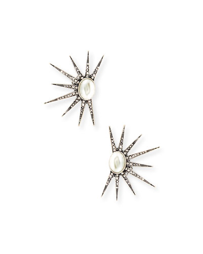 Zenith Crystal Clip-On Earrings