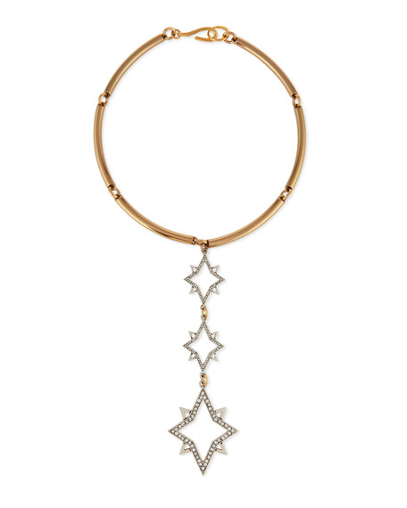 Lulu Frost Nova Linear Three-Star Collar Necklace