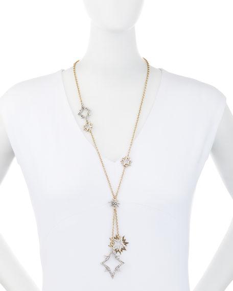 Nova Long Crystal Star Pendant Necklace