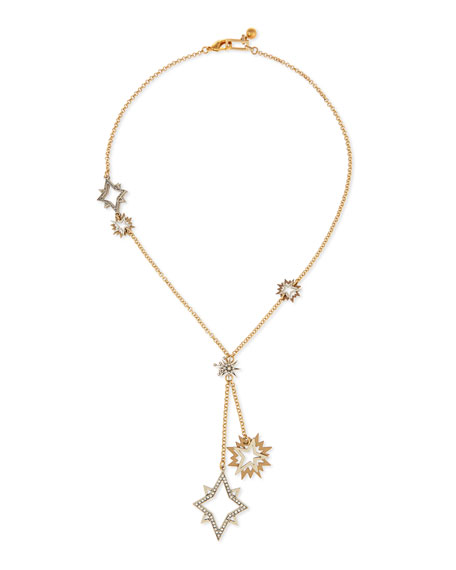 Nova Long Crystal Star Pendant Necklace