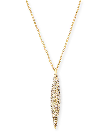 Short Pavé Crystal Spear Necklace