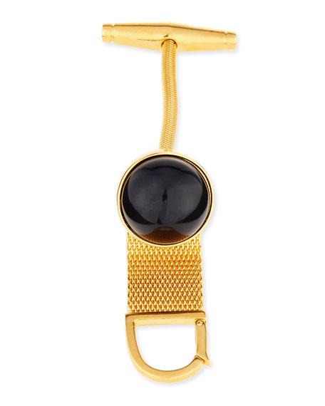 Chain Toggle Bracelet, Black/Golden