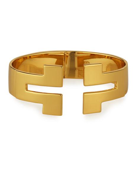 Tunic T Wide Hinge Cuff Bracelet