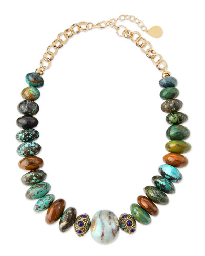 Beaded Opal Necklace, Multi