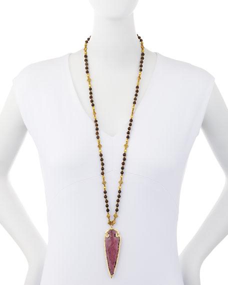 Arrowhead Pendant Necklace, Plum