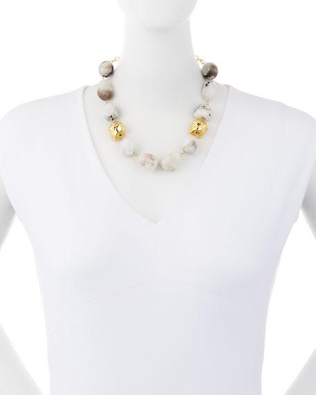 Snow Leopard Moonstone Nugget Necklace