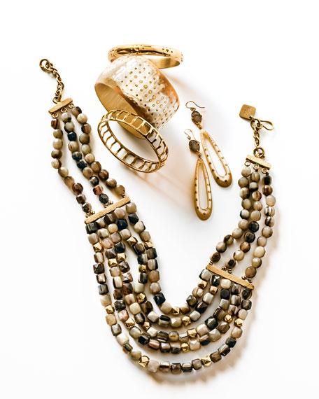 """Kubwa Multi-Strand Necklace, 21""""L"""