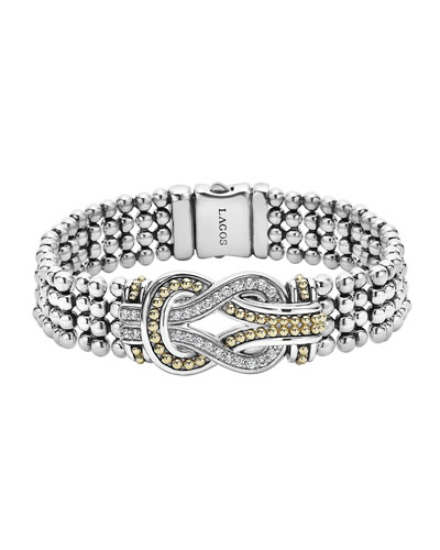 15mm Flat Diamond Infinity Knot Bracelet
