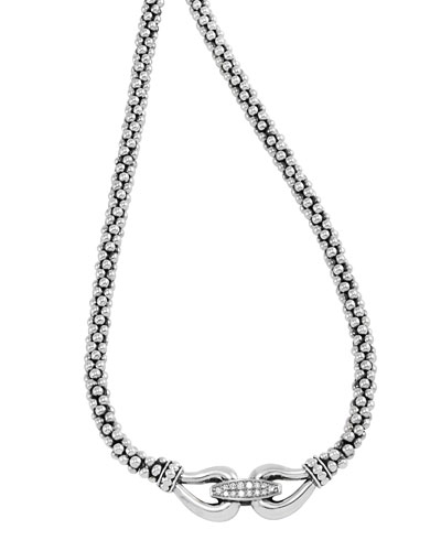 Sterling Silver Derby Diamond Necklace, 16