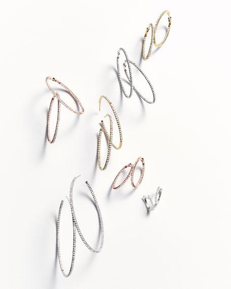 45mm Micro Pavé Diamond Hoop Earrings in 18K Yellow Gold