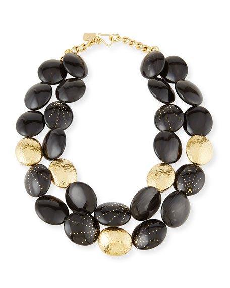 Ashley Pittman Burudani Two-Strand Necklace, Black