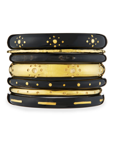 Ashley Pittman Kaimu Seven-Piece Stacking Bangle Set