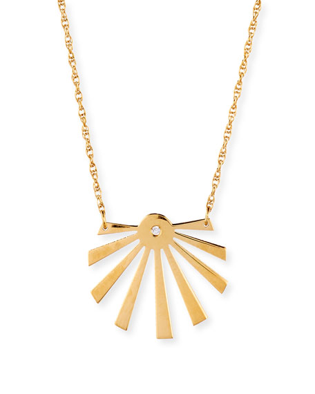 Cali Sunburst Pendant Necklace