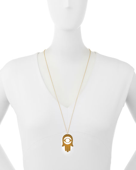 Paola Cutout Hamsa Pendant Necklace